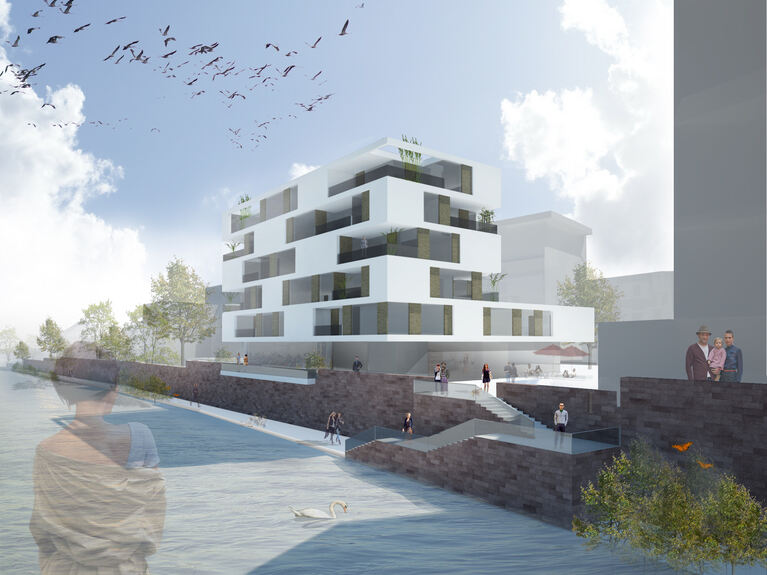 weber hummel plant wohnbebauung auf der insel neu ulm. Black Bedroom Furniture Sets. Home Design Ideas