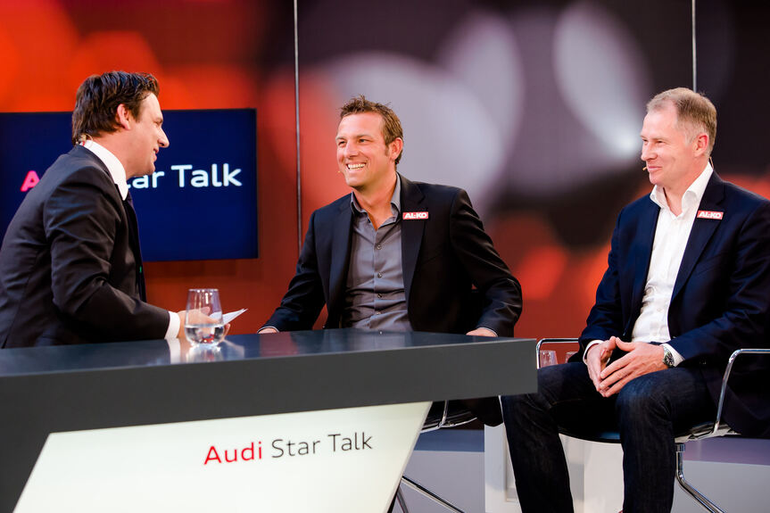 stefan reuter und markus weinzierl beim audi star talk bilder b4b schwaben. Black Bedroom Furniture Sets. Home Design Ideas