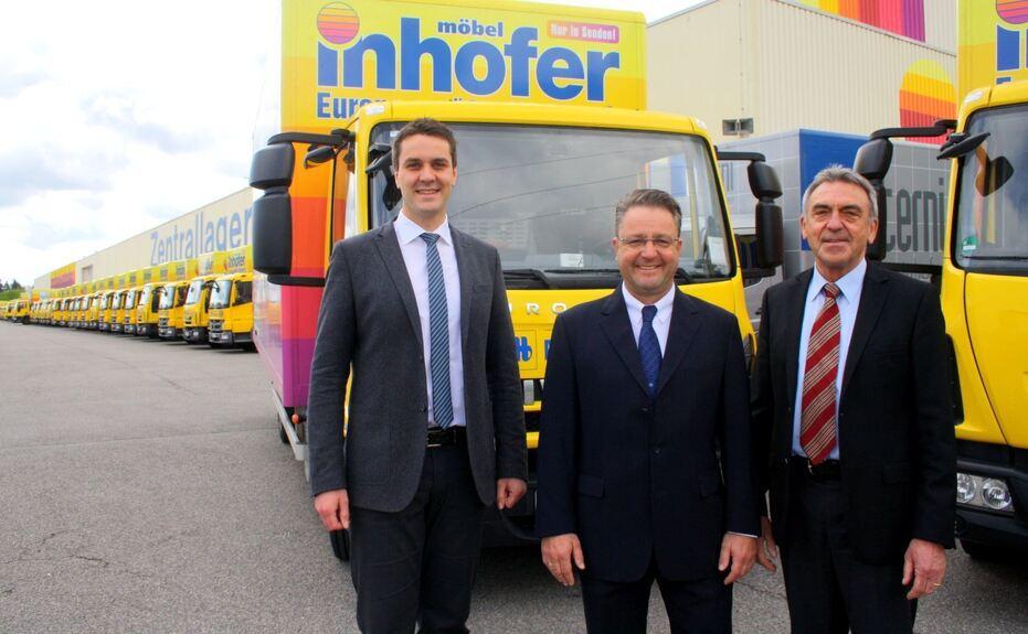 Möbel Inhofer rüstet Fahrzeugflotte auf - Neu-Ulm/Ulm - B4B SCHWABEN