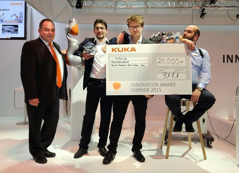 kuka innovation award 2015 geht an italiener augsburg b4b schwaben. Black Bedroom Furniture Sets. Home Design Ideas
