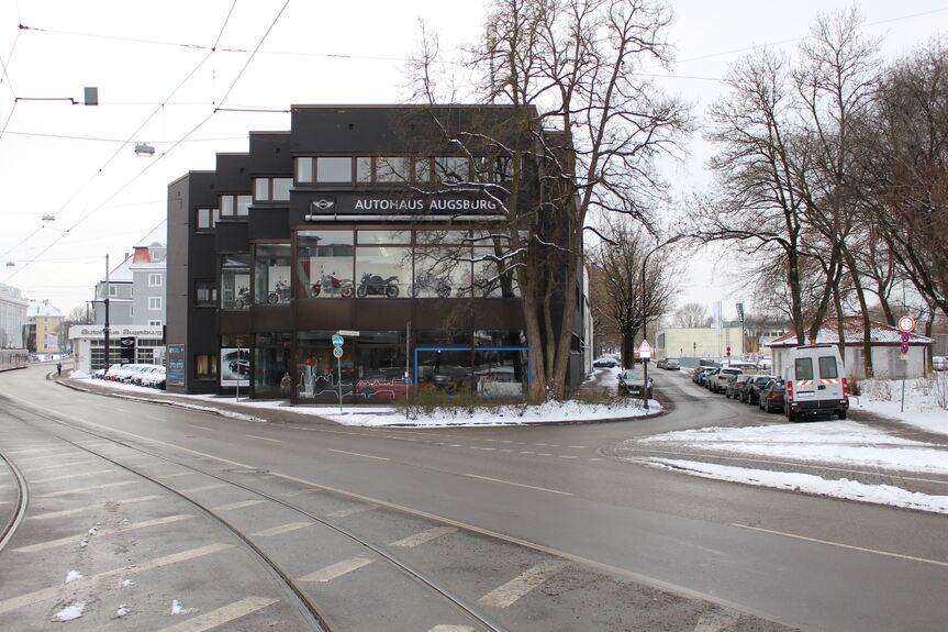Reisacher MINI Autohaus Augsburg soll Hotel weichen