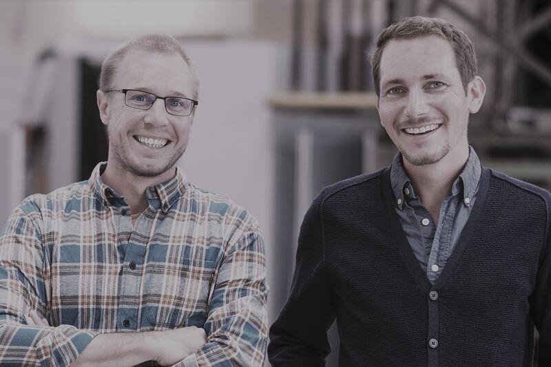 Stefan Grimm und Alexander Kostgeld, Gründer des gemeinsamen Startups Bersabee. Foto: Tobias Hertle